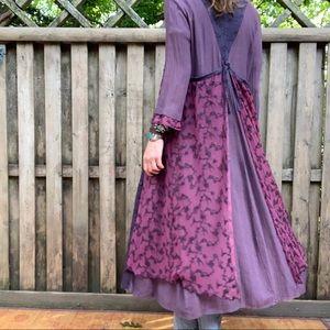 Duster/Dress/Long Boho Purple& blues